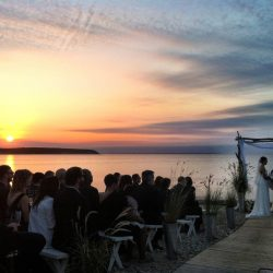 Anya & Trevor's Sunset Ceremony, Photo by Karen Solares